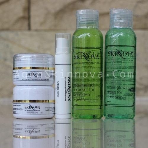 paket acne whitening skinnova