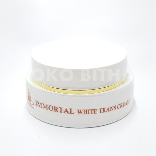 CREAM ANTI FLEK WHITE TRANS CREAM IMMORTAL ORIGINAL ANTI FLEK MELASMA KB MENCEGAH HIPERPIGMENTASI