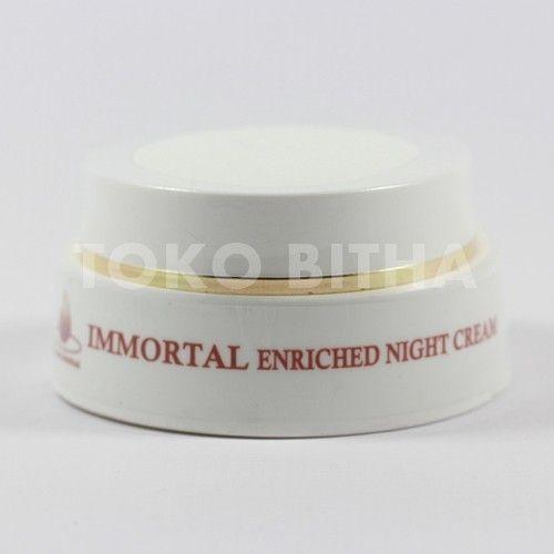IMMORTAL ENRICHED NIGHT CREAM MALAM UNTUK PENCERAH WAJAH SENSITIF 1